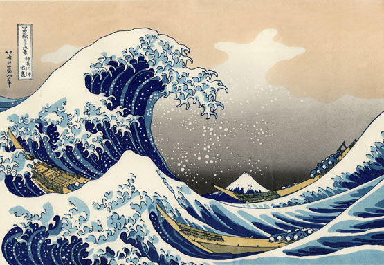Hokusai's The Great Wave - click to enlarge